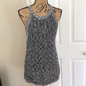Moth Gray crew Knitted Multicolor top Size L
